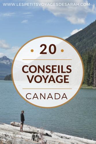 20 conseils de voyage pour le Canada