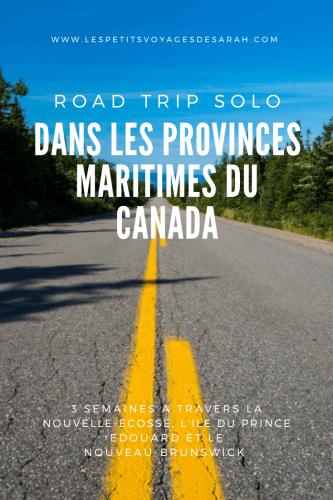 Road Trip solo dans les Provinces Maritimes du Canada